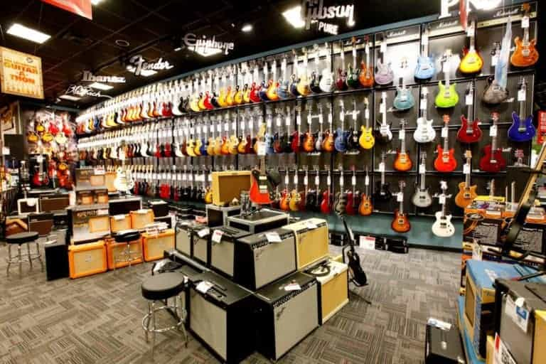 Maciek Music - photo of guitar department - vintage guitars?